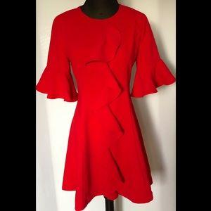 Chicwish Red Ruffle Eye Catching Dress Size M NWOT